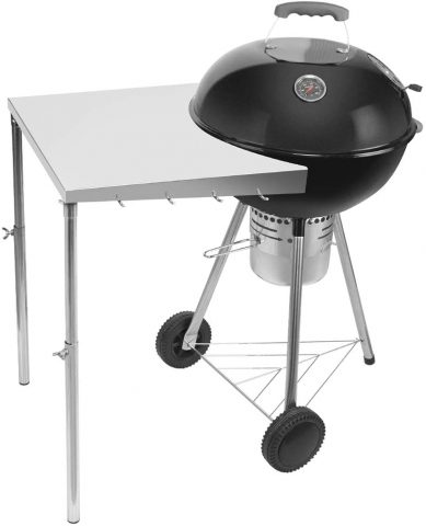 Stanbroil Stainless Steel Work Table Fits All Weber 18, 22 Charcoal Kettle Grills and Other Similar Size Charcoal Kettle Grills -Patent Pending