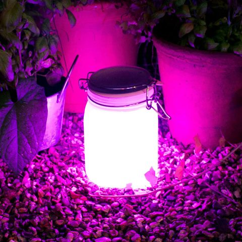 Suck UK Solar Powered Rechargeable LED Sun Jar Light - Waterproof for Indoor and Outdoor Use