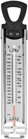 Wilton Candy Thermometer, Ideal for Precisely Measuring Temperature of Hard Candy, Nougat, or Fudge Mixtures, Clamps to Side of Pan for Accurate Readings, Metal (14.7 Long)