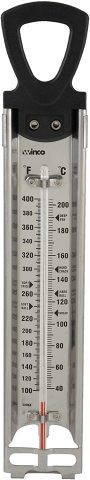 Winco Deep FryCandy Thermometer with Hanging Ring, 2-Inch by 11-34-Inch