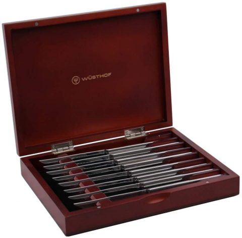 Wusthof 8-Piece Stainless-Steel Steak Knife Set with Wooden Gift Box