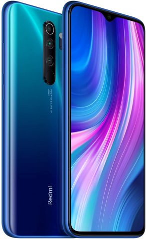 Xiaomi Redmi Note 8 Pro (128GB, 6GB) 6.53, Quad Camera, Helio G90T Gaming Processor, Dual SIM GSM Unlocked - US & Global 4G LTE International Version (Ocean Blue, 128GB + 64GB SD + Case Bundle)