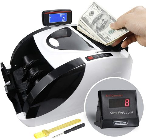 ZENY Money Counter Automatic Bill Currency Counting Machine UV Detection & MG Counterfeit Bill Detection,Business Grade Cash Counter