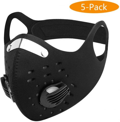 AIDIER Anti-Pollution Cycling Mask Activated Carbon Filtration Exhaust Gas Biking Mask PM 2.5 Face Mask for Running Motorcycling Riding and Hiking