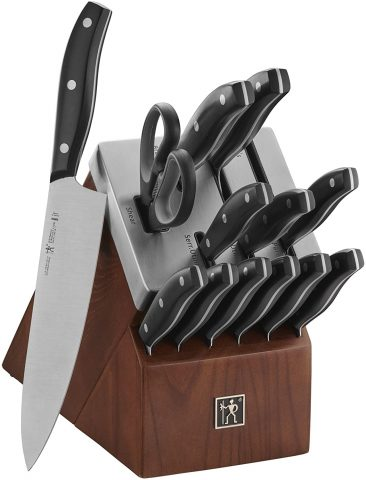 HENCKELS Definition Self-Sharpening Knife Block Set, 14-pc, BlackStainless Steel