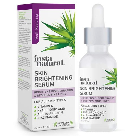 InstaNatural - Skin Brightening Serum with Vitamin C - Advanced Antioxidant Serum for Firming Wrinkles, Fine Lines - Dark Spots & Hyperpigmentation - With Hyaluronic and Niacinamide - 1oz
