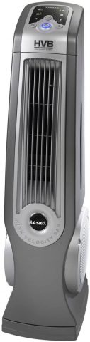 Lasko 4930 Oscillating High Velocity Tower Fan with Remote Control - Features Built-in Timer and Louvered Air Flow Control