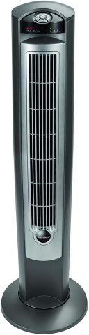 Lasko Portable Electric 42 Oscillating Tower Fan with Nighttime Setting, Timer and Remote Control for Indoor, Bedroom and Home Office Use, Silver T42951