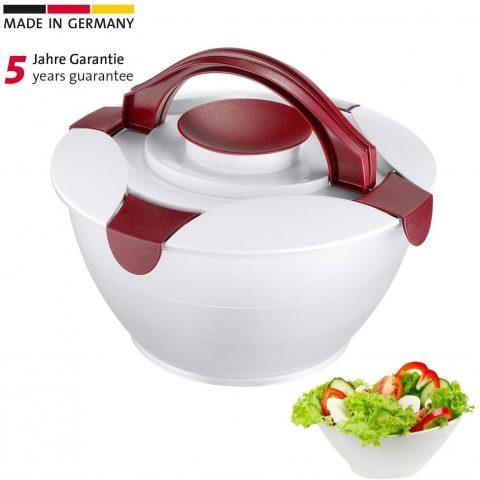 Westmark 4004094242274 Salad Bowl With Integrated Transport Container, one size, RedWhite