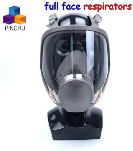 ZYC Gas Mask Full Face Respirator Spray Paint Pesticide Protective Mask Can Cooperate with Filter