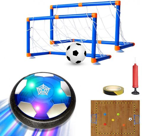 MESIXI Kids Toys LED Light Hover Soccer Ball Toy Air Soccer with Foam Bumper Indoor Outdoor Football Sports Game, Excellent Time Killer for Boys Girls Best Gift for Toddlers 3 4 5 6 7 8-16 Years Old